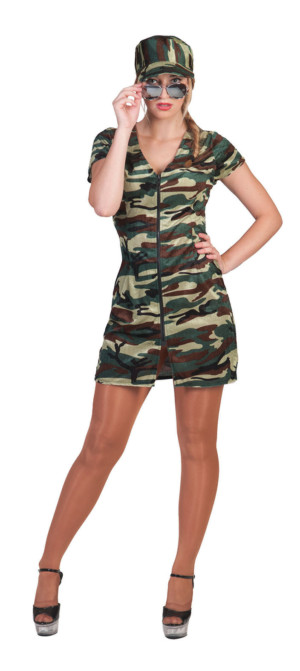 Sexy militaire dame, soldate-0