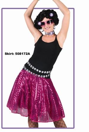 Disco glitter rok fuchsia-0
