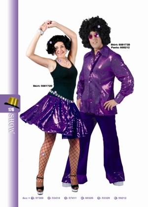 Disco glitter rok paars-0