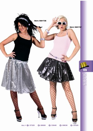 Disco glitter rok zwart-0
