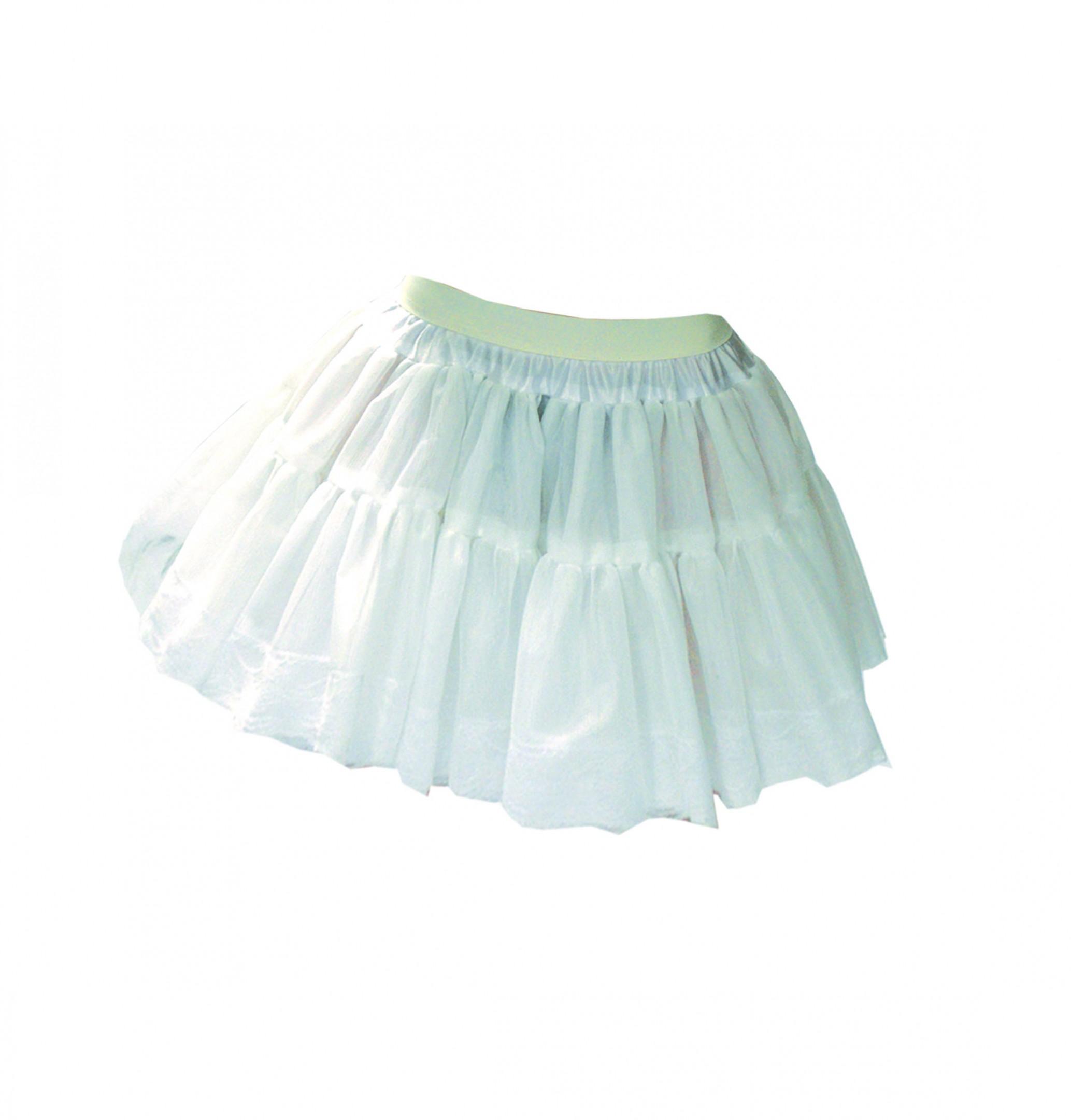 Petticoat wit met extra volume-0