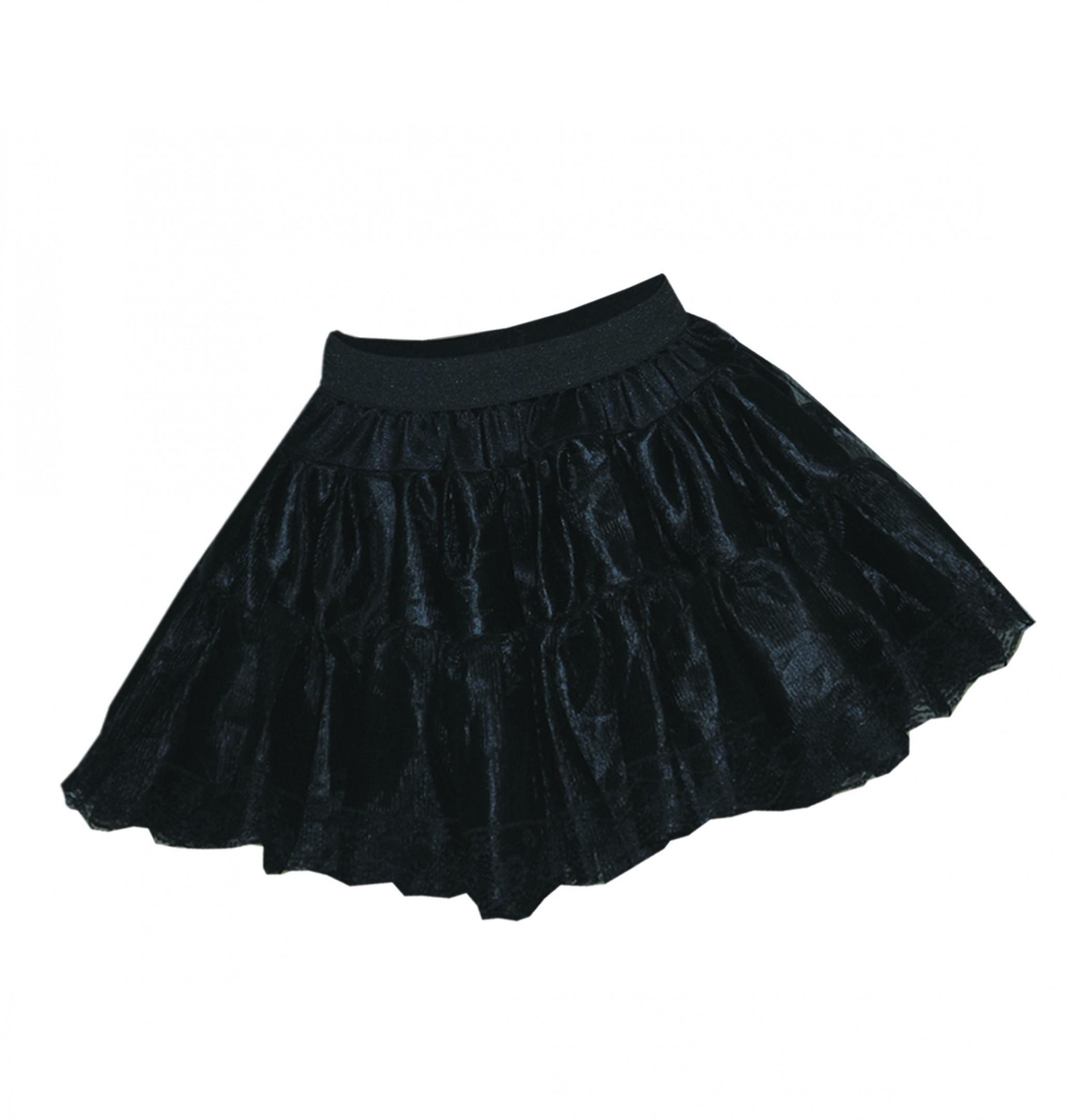 Petticoat zwart met extra volume-0
