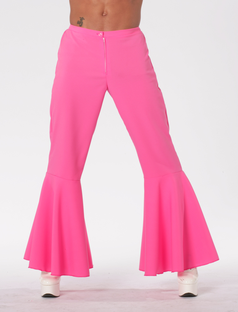Hippiebroek bi-strech pink-0