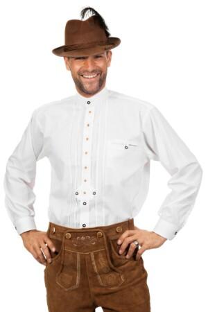 Tiroler blouse wit luxe