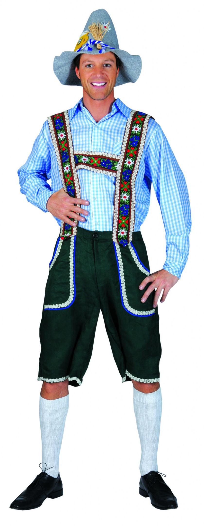 Tiroler blouse blauw / wit