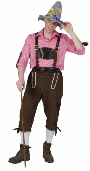 Tiroler blouse roze / wit