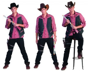 Cowboy denim blouse-0