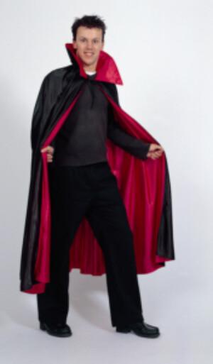 Cape dracula zwart rood nylon-0