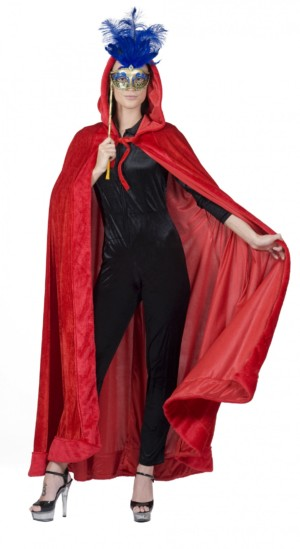 Cape velours rood-0