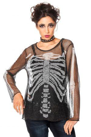 Netshirt skelet-0