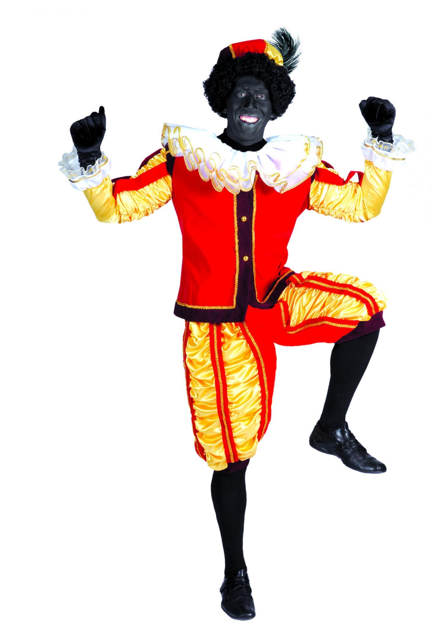 zwarte pieten pak luxe rood