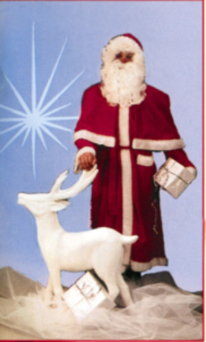 Kerstmanmantel + cape + riem-0