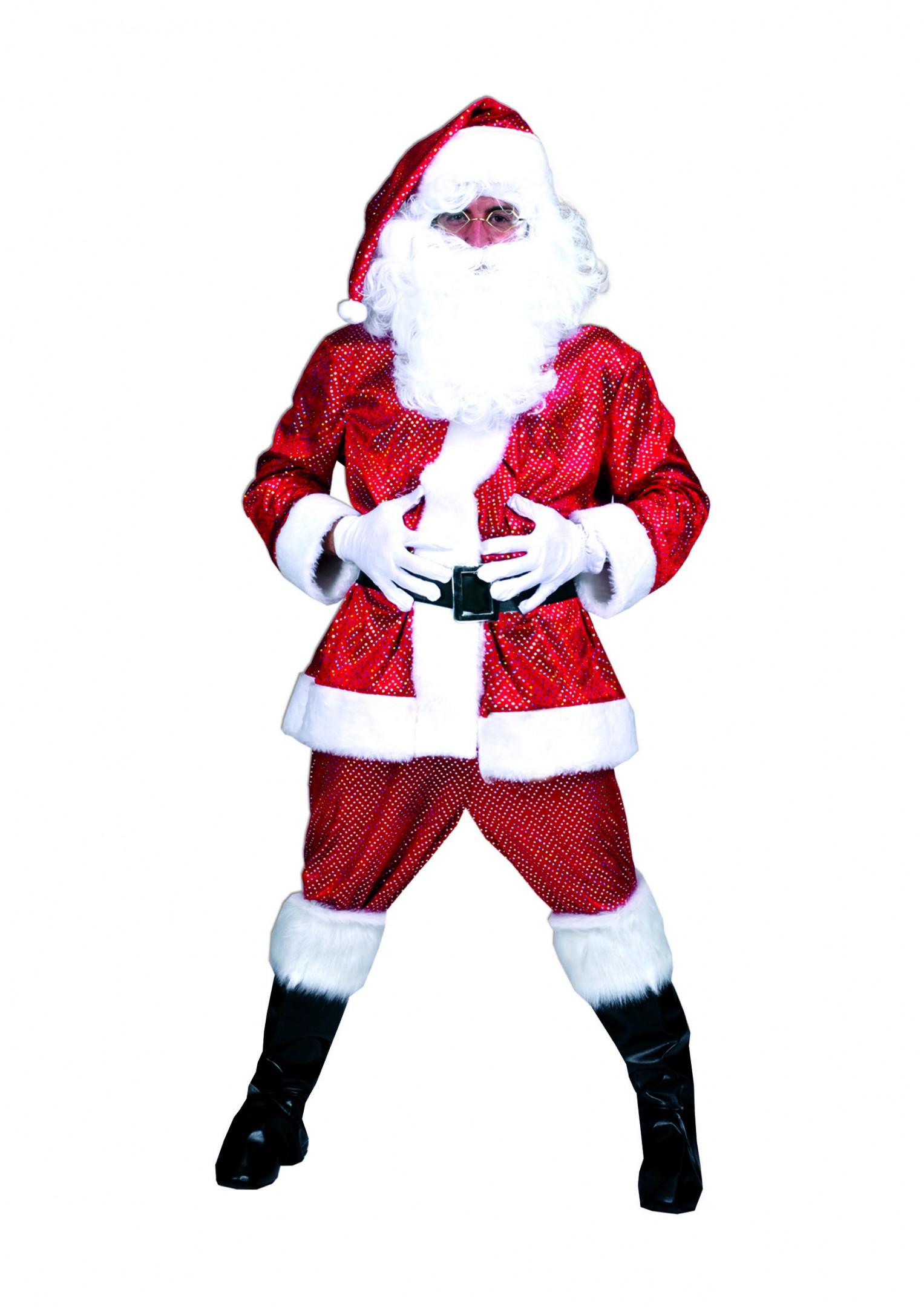 Glitter kerstman-0