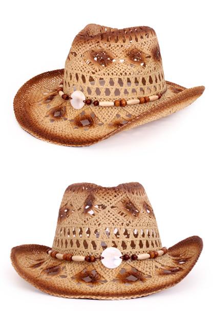 Stetson hoed crazy summer met decoratie naturel bruin-0