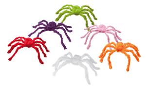 Harige spin 6 kleuren assortie-0