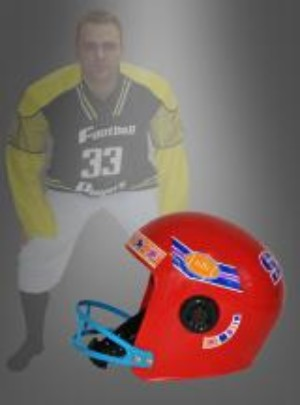 American Football helm rood o.s.f.a.-0
