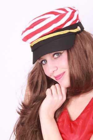 Cap schipper rood/wit mt. 59-0
