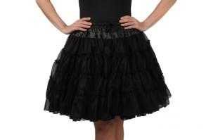 Petticoat deluxe 3 lagen zwart-0