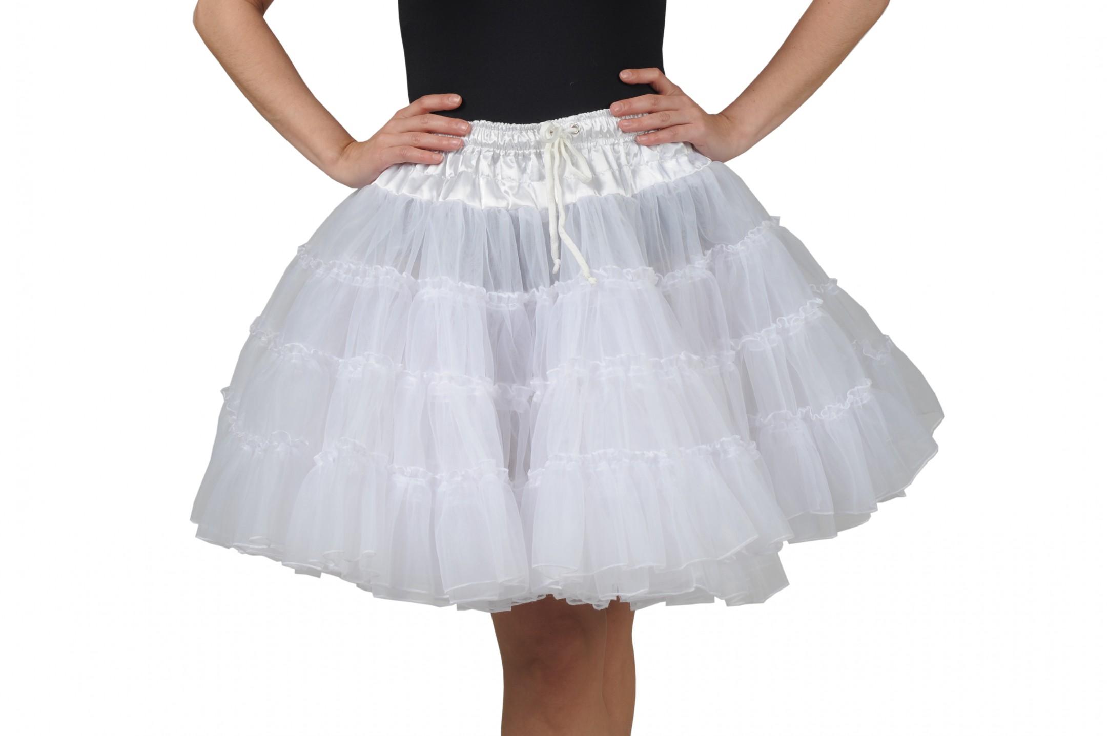 Petticoat deluxe 3 lagen wit-0