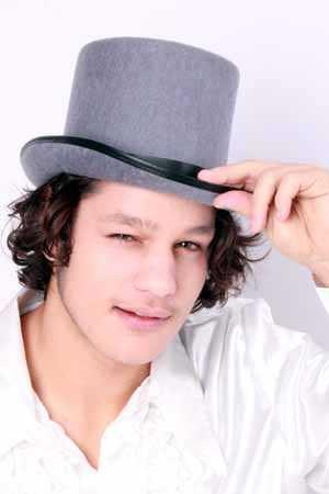Hoge hoed grijs-0