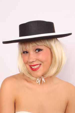 Zwarte ruiter hoed mt. volw-0