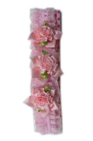 Kousenband roze+roosjes-0