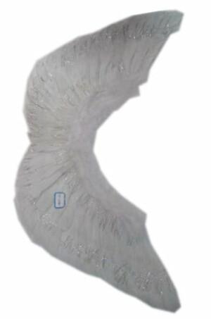 Engelenvleugels wit met zilver lurex volwassen-0