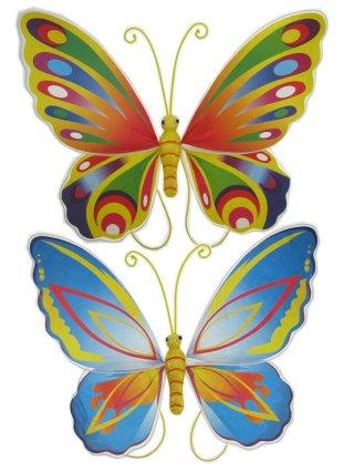 Vlindervleugels 2 assortie multi en blauw-0