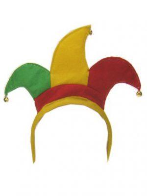 Haarbeugel harlekijn rood/geel/groen-0