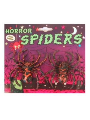 2 Tarantulas op kaart 3 ass. (Halloween)-0