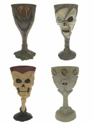 Halloween drinkglas + decoratie 4 assortie (Halloween)-0