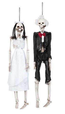 Skelet bruid of bruidegom (Halloween) mt. 15 cm-0