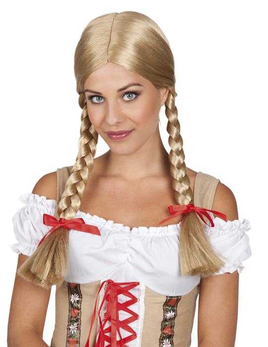 Heidi pruik blond