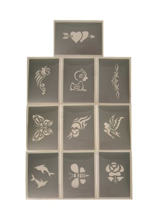 PXP schminksjabloon 10 stuks Serie A 6.5 x 9.5 cm-0