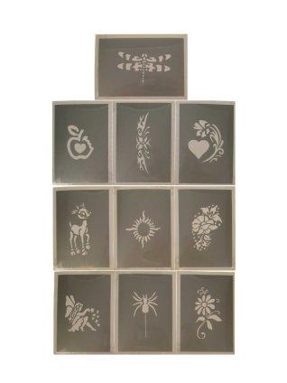 PXP schminksjabloon 10 stuks Serie E 6.5 x 9.5 cm-0
