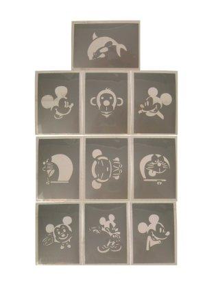 PXP schminkjabloon 10 stuks Serie H 6.5 x 9.5 cm-0