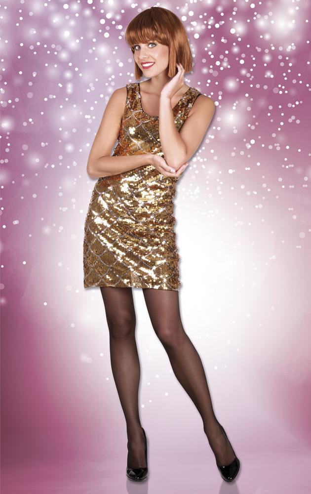 Glitterjurk Dazzle goud-0