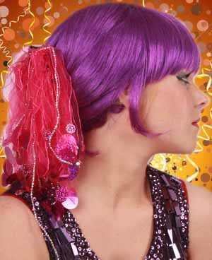 Haardeco pink + pailletten-0