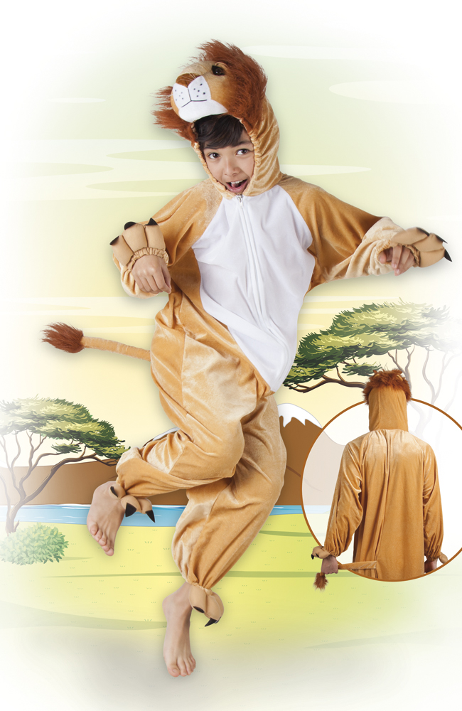 Leeuw pluche kind, jumpsuit-0