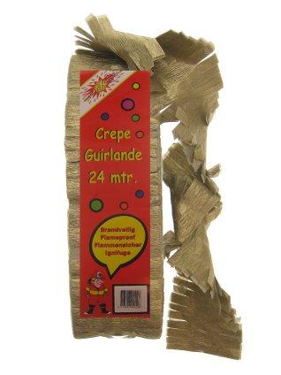 Crepe guirlande goud mt. 24 meter-0