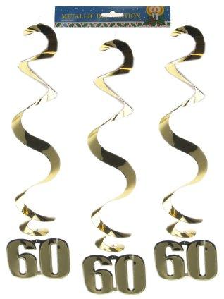 Hangspiraal goud 60 per 3-0