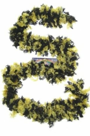 Boa sjawl zwart/geel-0
