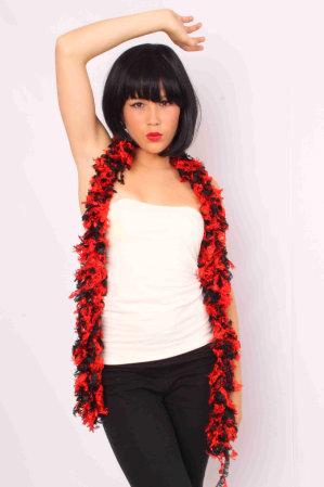 Boa sjawl zwart/rood-0