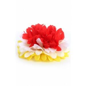 Bloem met haarclip rood/geel/wit Oeteldonk-0