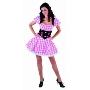 Dirndl jurkje roze / zwart rose