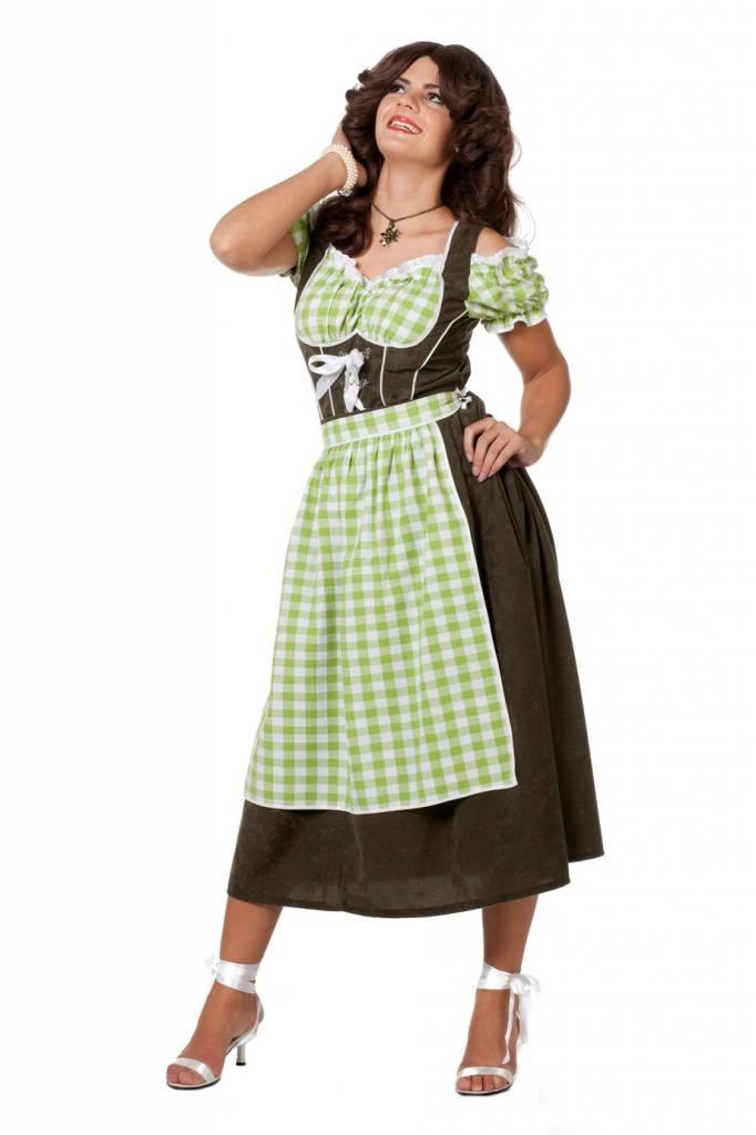 Dirndl jurk suedine groen