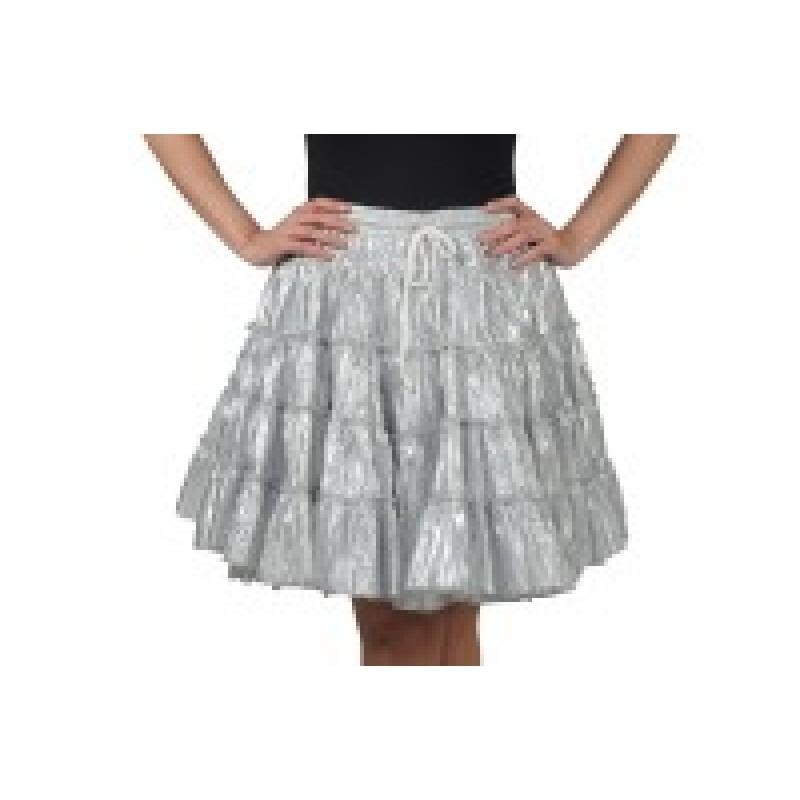 Petticoat Metalic  zilver-0