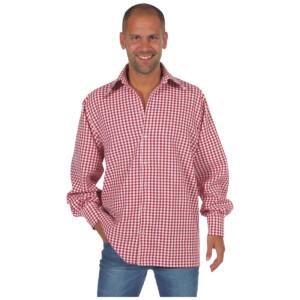 Tiroler blouse rood / wit brabant bont