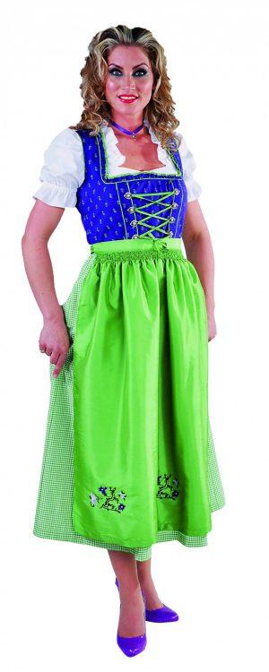 Dirndl jurk lang paars / groen luxe