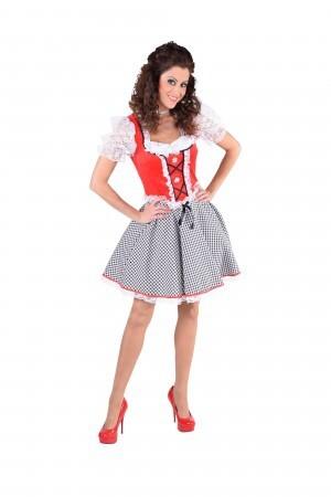 Dirndl Nicky rood Tiroolse oktoberfest-0